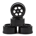 DE Racing TEN-SCTE Wheels 12mm Hex Trinidad SC (Black) (4) (TLR 22SCT, Tekno SCT410)