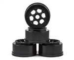 "DE Racing 17mm Hex ""Trinidad"" Short Course Wheels (Black) (4) (SC8/Senton)"