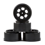 DERTS4AWB DE Racing Trinidad SC Wheels, for Associated SC5M-SC10-ProSC, Black, +3mm, (4pcs)