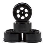 DE Racing Slash 2wd Wheels 12mm Hex Trinidad SC (Black) (4) (Slash 2wd Front)
