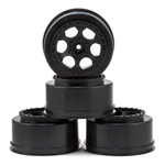 DE Racing Slash 4x4 Wheels 12mm Hex Trinidad SC (Black) (4) (SC6/Blitz/SCRT10/Hyper 10SC)
