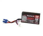 Dynamite Reaction 2S 50C Hard Case LiPo Battery w/EC2 Connector (7.4V/800mAh)