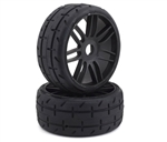 GRPGTX01-S1 GRP GT - TO1 Revo Belted Pre-Mounted 1/8 Buggy Tires (Black) (2) (S1) w/17mm Hex