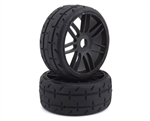 GRPGTX01-S5 GRP GT - TO1 Revo Belted Pre-Mounted 1/8 Buggy Tires (Black) (2) (S5) w/17mm Hex
