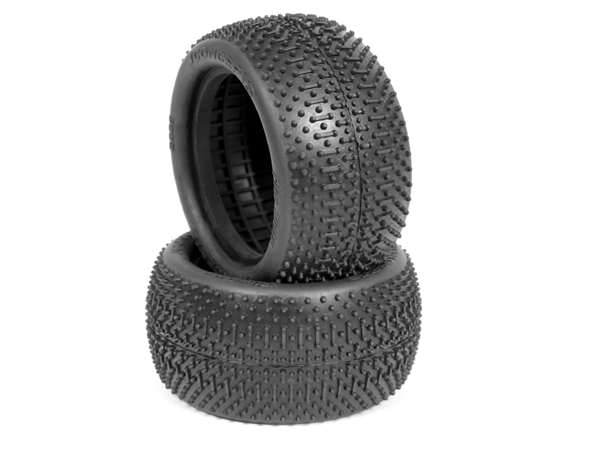 JCO303802 JConcepts Flip Outs 2.2 Rear Buggy Tires (Green) (2)