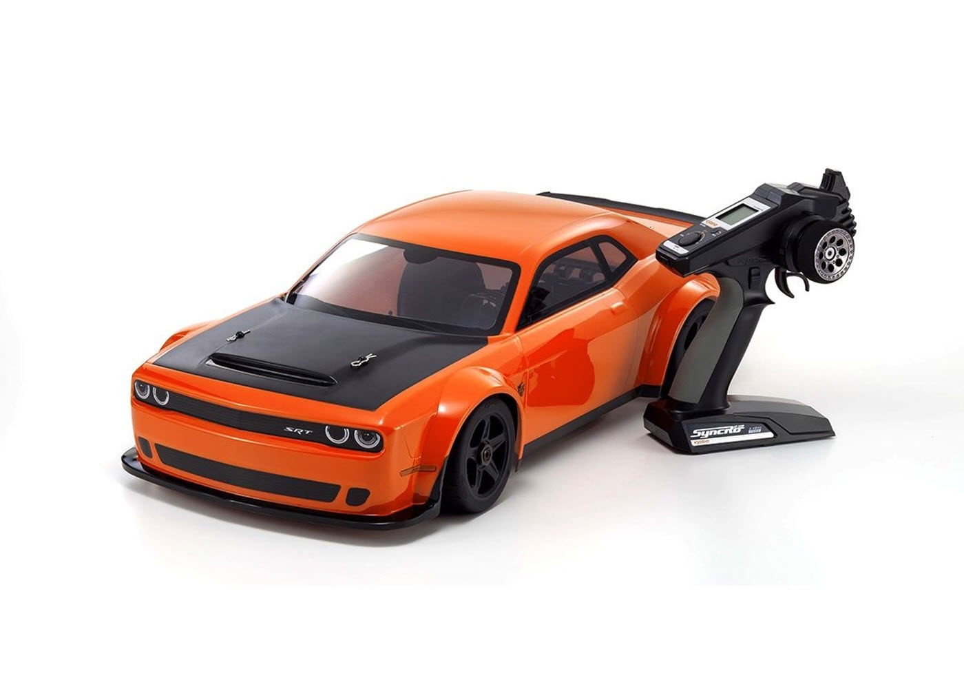 Kyosho Inferno 1/8 Scale GT2 VE Race Spec Dodge Challenger SRT Demon 2018 (Go Mango)