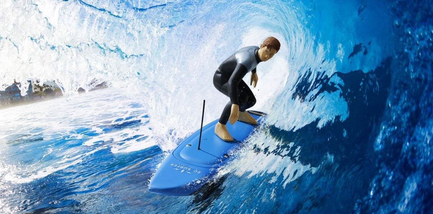 Kyosho RC Surfer 4 Electric Surfboard (Blue)