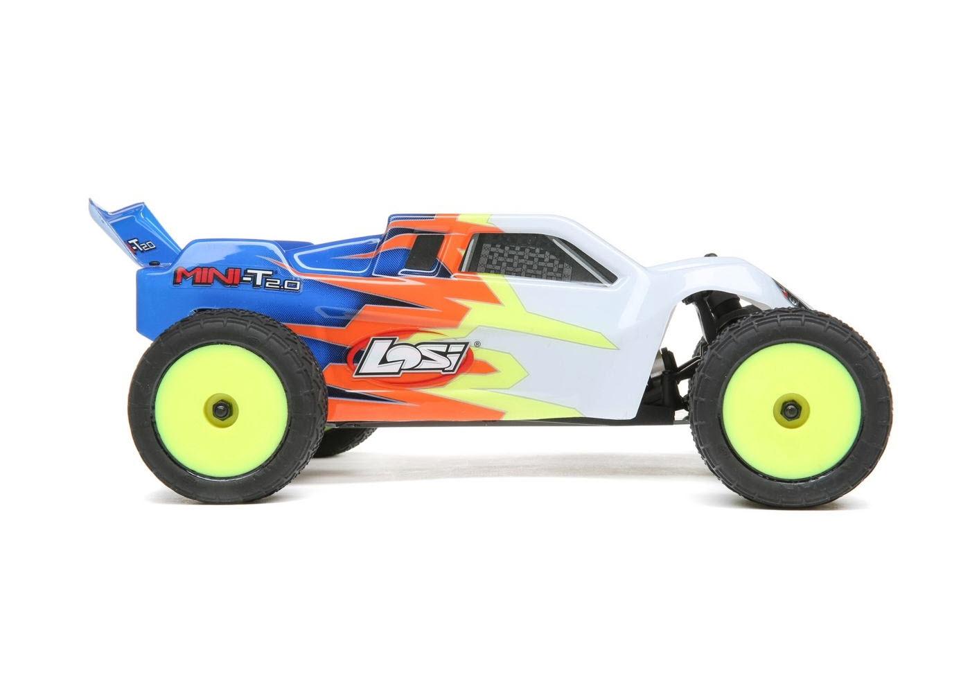 Losi Mini-T 2.0 RTR  Blue and White 1//18 Scale 2wd Stadium Truck