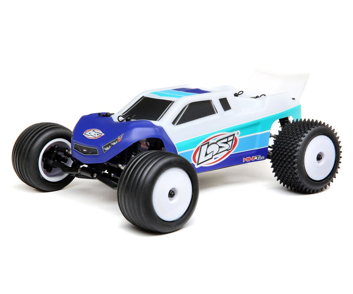 Losi Mini-T 2.0 1/18 RTR 2WD Brushless Stadium Truck (Blue) w/2.4GHz Radio, Battery & Charger