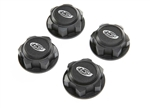 Losi DBXL-E 2.0 Wheel Nuts, Captured Black (4)