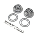 Losi Beadlock Wheel and Ring Set (2): SBR 2.0