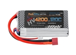 Powerhobby 3S 11.4V 4200mAh 120C Graphene + HV LiPo Shorty Battery with T-Plug