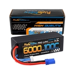 Powerhobby 4s 14.8v 6000mah 100c Lipo Battery w EC5 Hard Case 4-cell (6000mAh / 14.8v)