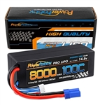 Powerhobby 4s 14.8v 8000mah 100c Lipo Battery w EC5 Hard Case 4-cell (8000mAh / 14.8v)