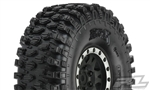 "PRO1012813 Pro-Line Hyrax 1.9"" G8 Rock Terrain Truck Tires Mounted for Front or Rear 1.9"" Rock Crawler, Mounted on Impulse Black/Silver Plastic Internal Bead-Loc Wheels"