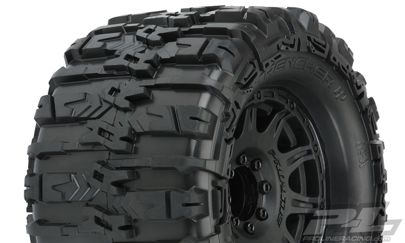 "Pro-Line Trencher HP 3.8"" BELTED Tires Mounted 17mm  (M2) (2) (Black)"