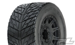 "Pro-Line Street Fighter HP 3.8"" Belted Tires Pre-Mounted w/Raid Wheels (2) (M2) (Black)"