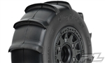 Pro-Line Sling Shot SC 2.2/3.0 Tires w/Raid Wheels (Black) (2) (XTR) w/12mm Removable Hex