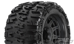 "Pro-Line Trencher X MX38 3.8"" Tire w/Raid 8x32 Wheels (Black) (2) (M2) w/Removable Hex"