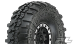"PRO119713 Pro-Line Interco TSL SX Super Swamper XL 1.9"" G8 Rock Terrain Truck Tires Mounted for Front or Rear 1.9"" Rock Crawler, Mounted on Impulse Black/Silver Plastic Internal Bead-Loc Wheels (2)"