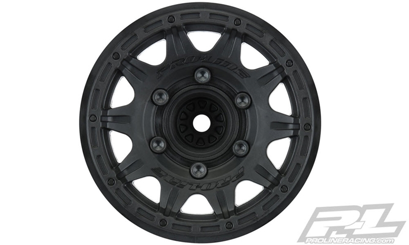 "PRO277403 Pro-Line Raid 2.8"" Wheel w/Removable Hex (Black) (2)"