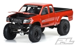 "PRO352000 Pro-Line Builder's Series: Metric 12.3"" Rock Crawler Body (Clear) w/Cab, Bed & Opening Hood"