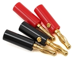 ProTek RC 4.0mm Gold Plated Banana Plugs (2 Red/2 Black)