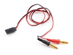 PTK-5213 ProTek RC Receiver Charge Lead (Futaba Female to 4mm Banana Plugs)