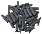 "PTK-5453 ProTek RC 1.5, 5, 6 & 8mm Shrink Tubing Assortment Pack (Black) (20) (1"" Length)"