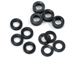 ProTek RC Aluminum Ball Stud Washer Set (Black) (12) (0.5mm, 1.0mm & 2.0mm)