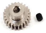 Robinson Racing Steel 48P Pinion Gear (1/8th Bore) (24T)