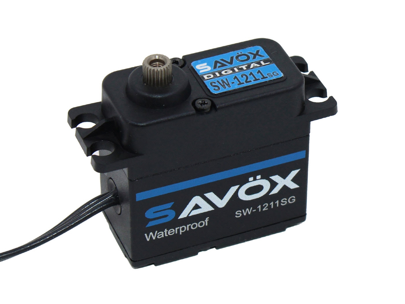 Savox Waterproof High Voltage Digital Servo 0.08sec / 347.2oz @ 7.4V - Black Edition