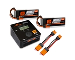 Spektrum RC Smart Charger & Batteries Powerstage Bundle: 8S 100C