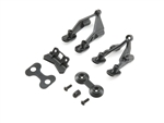 TLR231063 Team Losi Racing Rear Wing Stay & Washers: 22 4.0