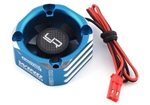Yeah Racing 30x30 Aluminum Case Booster Fan (Blue)