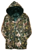 Hooded Fleece Jacket in Deer Camo print