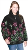 Humming Birds Black Adult Fleece Jacket