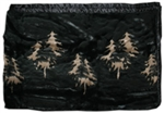 Night Trees Satin Lined 60��àö√Üx 50��àö√Ü Fun Fur Blanket