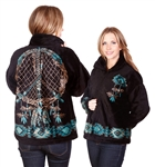 Black Dream Catcher Adult Fleece Jacket
