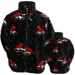 Snow Cardinals Adult Fleece Jacket