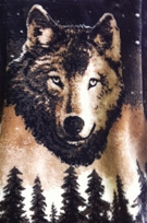 Starry Wolf Reversible 60x72 Fleece Blanket