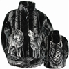 Timber Wolf Adult Fleece Jacket