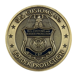 CBP Badge Coin - Brass
