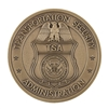 TSA Badge Coin - Antique Brass