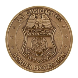 CBP Badge Coin - Antique Brass