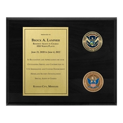 Coins Plaque - Brass/Black (CBP)