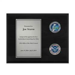 Coins Plaque - Nickel/Black (CISA)