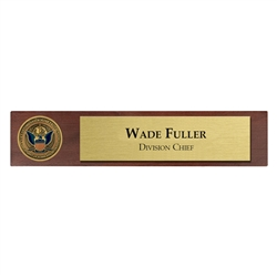 Desk Nameplate w/ Coin (CBP)