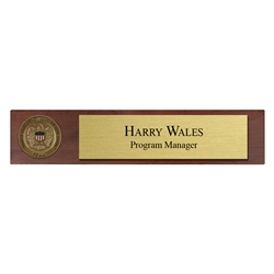 Desk Nameplate w/ Coin (FEMA)
