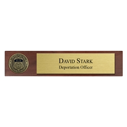 Desk Nameplate w/ Coin (ICE)